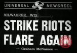 Image of Strike Milwaukee Wisconsin USA, 1941, second 4 stock footage video 65675032020