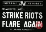 Image of Strike Milwaukee Wisconsin USA, 1941, second 5 stock footage video 65675032020