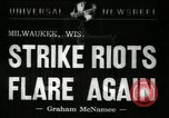 Image of Strike Milwaukee Wisconsin USA, 1941, second 6 stock footage video 65675032020