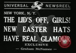 Image of easter hats New York United States USA, 1941, second 3 stock footage video 65675032024