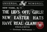 Image of easter hats New York United States USA, 1941, second 4 stock footage video 65675032024