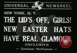 Image of easter hats New York United States USA, 1941, second 6 stock footage video 65675032024