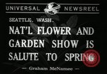 Image of Flower and garden show Seattle Washington USA, 1941, second 2 stock footage video 65675032026