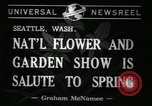 Image of Flower and garden show Seattle Washington USA, 1941, second 4 stock footage video 65675032026