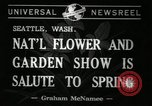 Image of Flower and garden show Seattle Washington USA, 1941, second 5 stock footage video 65675032026
