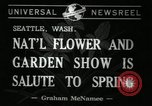 Image of Flower and garden show Seattle Washington USA, 1941, second 6 stock footage video 65675032026