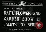 Image of Flower and garden show Seattle Washington USA, 1941, second 7 stock footage video 65675032026