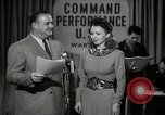 Image of command radio performance Hollywood Los Angeles California USA, 1943, second 1 stock footage video 65675032039