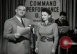 Image of command radio performance Hollywood Los Angeles California USA, 1943, second 4 stock footage video 65675032039