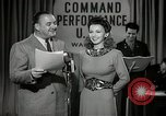 Image of command radio performance Hollywood Los Angeles California USA, 1943, second 8 stock footage video 65675032039