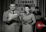 Image of command radio performance Hollywood Los Angeles California USA, 1943, second 10 stock footage video 65675032039