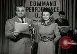 Image of command radio performance Hollywood Los Angeles California USA, 1943, second 11 stock footage video 65675032039