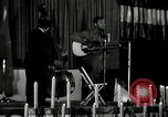Image of Joshua Daniel White sings at Paul Robeson event New York City USA, 1944, second 6 stock footage video 65675032043