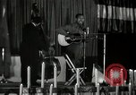 Image of Joshua Daniel White sings at Paul Robeson event New York City USA, 1944, second 10 stock footage video 65675032043