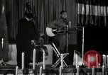 Image of Joshua Daniel White sings at Paul Robeson event New York City USA, 1944, second 11 stock footage video 65675032043