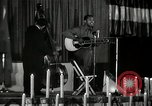 Image of Joshua Daniel White sings at Paul Robeson event New York City USA, 1944, second 12 stock footage video 65675032043
