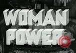 Image of Woman Power United States USA, 1942, second 3 stock footage video 65675032087