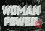 Image of Woman Power United States USA, 1942, second 5 stock footage video 65675032087