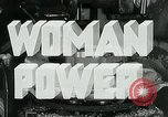 Image of Woman Power United States USA, 1942, second 8 stock footage video 65675032087
