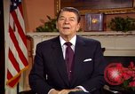 Image of President Ronald Reagan sends holiday greetings to people of Soviet Union Washington DC  USA, 1988, second 7 stock footage video 65675032118