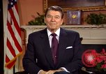 Image of President Ronald Reagan sends holiday greetings to people of Soviet Union Washington DC  USA, 1988, second 8 stock footage video 65675032118