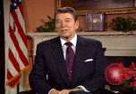 Image of President Ronald Reagan sends holiday greetings to people of Soviet Union Washington DC  USA, 1988, second 11 stock footage video 65675032118