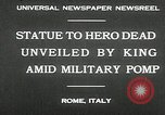 Image of honor to soldiers Rome Italy, 1930, second 4 stock footage video 65675032147