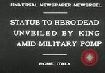 Image of honor to soldiers Rome Italy, 1930, second 8 stock footage video 65675032147