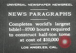 Image of largest Bible Los Angeles California USA, 1930, second 1 stock footage video 65675032148