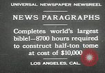 Image of largest Bible Los Angeles California USA, 1930, second 2 stock footage video 65675032148