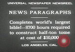 Image of largest Bible Los Angeles California USA, 1930, second 4 stock footage video 65675032148