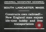Image of railroad model South Lancaster Massachusetts USA, 1930, second 1 stock footage video 65675032150