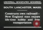Image of railroad model South Lancaster Massachusetts USA, 1930, second 6 stock footage video 65675032150