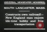 Image of railroad model South Lancaster Massachusetts USA, 1930, second 10 stock footage video 65675032150