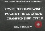 Image of World Pocket Billiards Championship New York United States USA, 1930, second 1 stock footage video 65675032153
