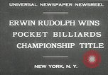 Image of World Pocket Billiards Championship New York United States USA, 1930, second 3 stock footage video 65675032153