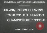 Image of World Pocket Billiards Championship New York United States USA, 1930, second 4 stock footage video 65675032153