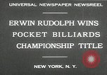 Image of World Pocket Billiards Championship New York United States USA, 1930, second 5 stock footage video 65675032153