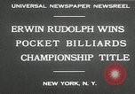 Image of World Pocket Billiards Championship New York United States USA, 1930, second 6 stock footage video 65675032153