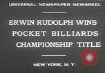 Image of World Pocket Billiards Championship New York United States USA, 1930, second 8 stock footage video 65675032153