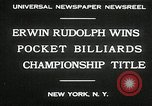 Image of World Pocket Billiards Championship New York United States USA, 1930, second 10 stock footage video 65675032153