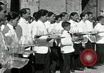 Image of saloon waiters Rome Italy, 1930, second 2 stock footage video 65675032163