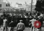 Image of unemployed men during great depression Newark New Jersey USA, 1937, second 3 stock footage video 65675032186