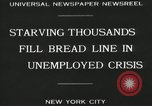 Image of unemployment crisis during great depression New York City USA, 1930, second 2 stock footage video 65675032192