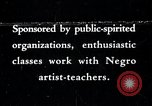 Image of Negro artists United States USA, 1937, second 1 stock footage video 65675032261