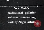 Image of Negro artists New York United States USA, 1937, second 1 stock footage video 65675032265