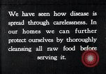 Image of preventing disease and cleansing raw food United States USA, 1922, second 1 stock footage video 65675032295