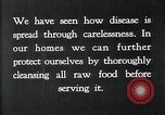 Image of preventing disease and cleansing raw food United States USA, 1922, second 2 stock footage video 65675032295