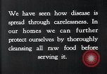 Image of preventing disease and cleansing raw food United States USA, 1922, second 8 stock footage video 65675032295