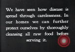 Image of preventing disease and cleansing raw food United States USA, 1922, second 9 stock footage video 65675032295